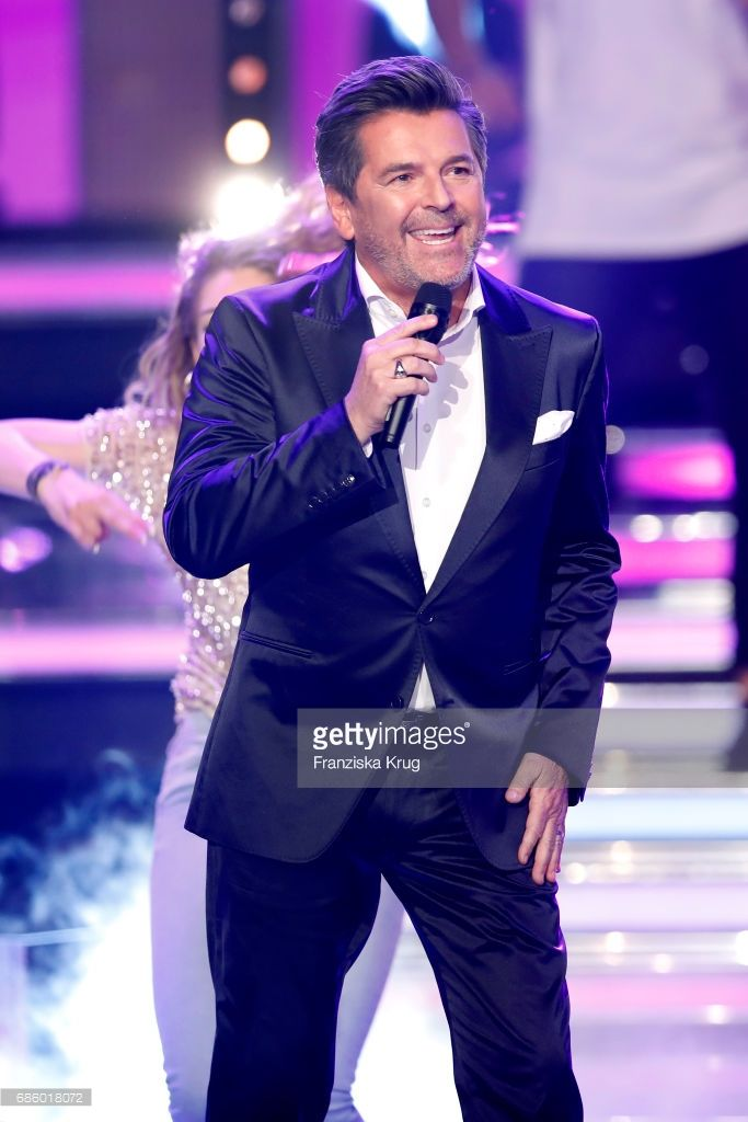 Thomas Anders during the tv show 'Willkommen bei Carmen Nebel' at Velodrom on May 20, 2017 in Berlin, Germany.