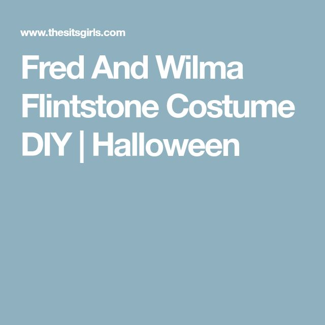 Fred And Wilma Flintstone Costume DIY | Halloween