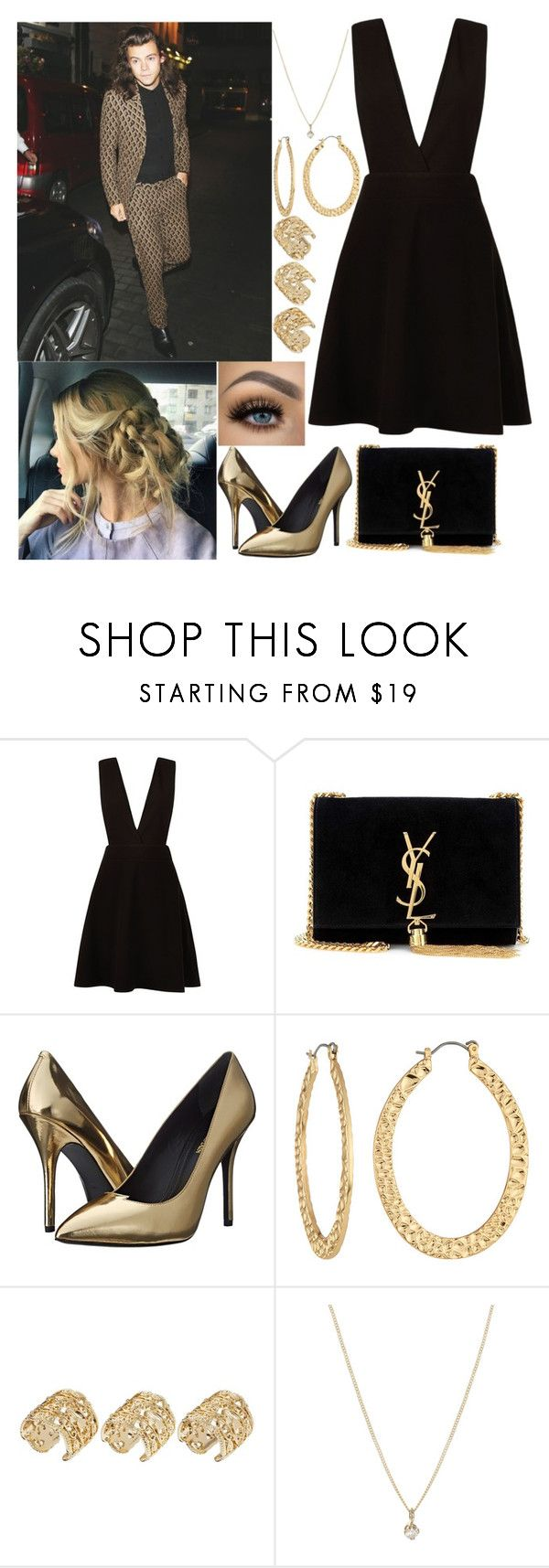 """Party with Harry"" by kennedey-lynn-freeman ❤ liked on Polyvore featuring New Look, Yves Saint Laurent, Urban Decay, Pierre Balmain, Fragments, ASOS and Laura Lee Jewellery"