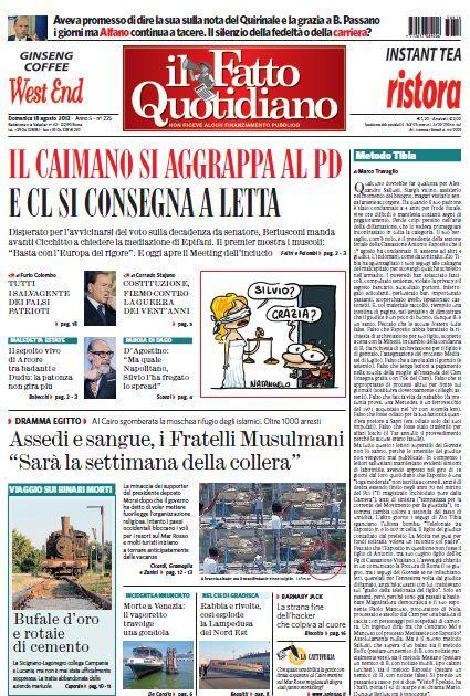 Il Fatto Quotidiano (18-08-13)Italian | True PDF | 20 pages | 10,22 Mb