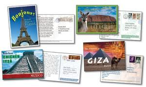 Postboards From Around The World Bulletin Board Set   CD-110028