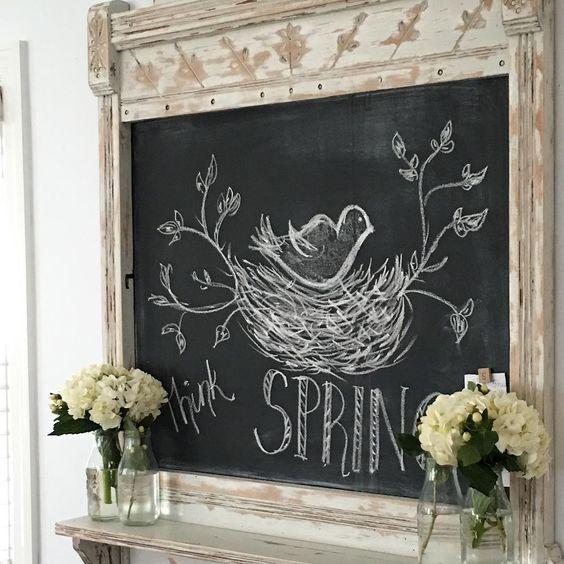Beautiful Spring Chalkboard Ideas Easter Chalkboard Ideas
