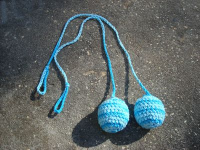 I love this tutorial for making crochet poi! They look like hackey sack poi but they would be your own personal design!