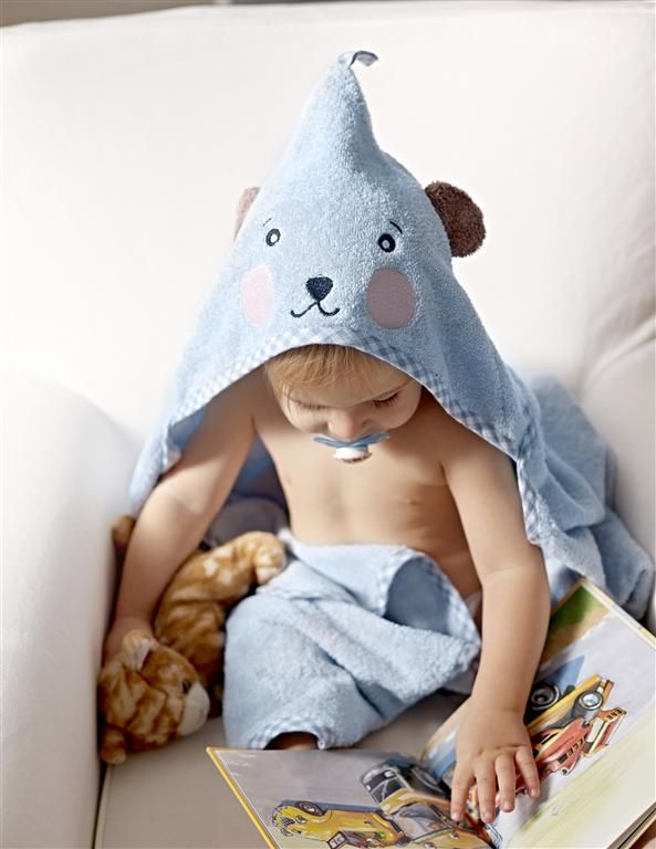 BADET baby towel with hood