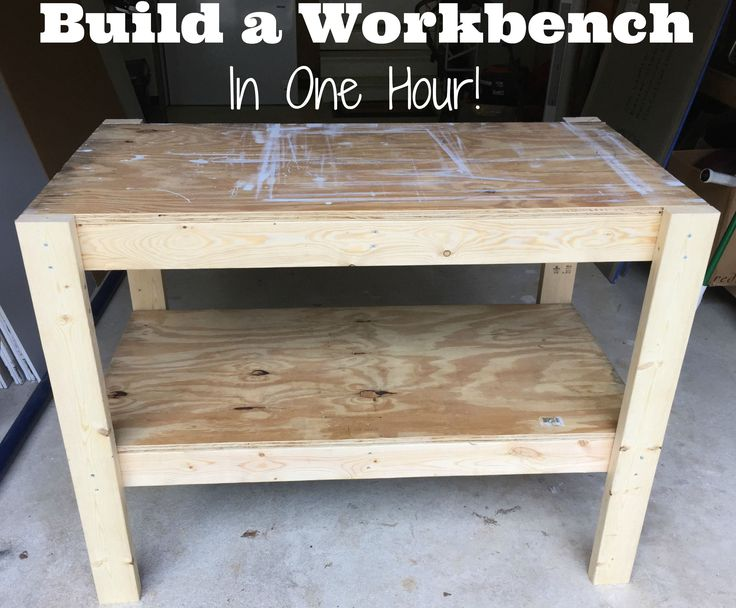 DIY Workbench with free plans and cut list from the Craft Crib. Cheap, easy, and quick!