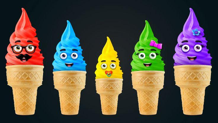 The Finger Family Ice Cream Nursery Rhyme | Finger Family Songs | Daddy Finger Rhyme