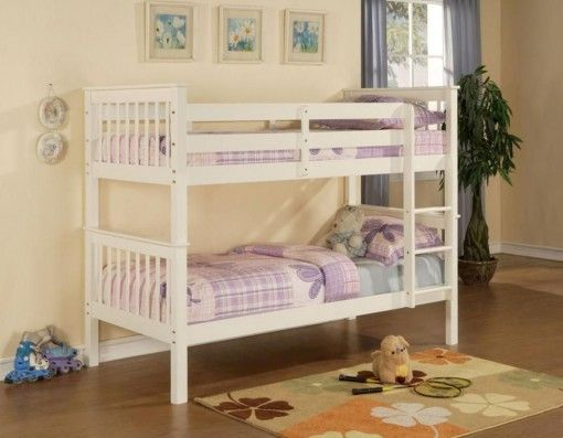 Limelight Pavo White Wooden Bunk Bed