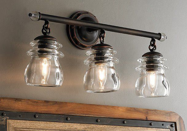 24 Rustic Bathroom Vanity Lights Ideas