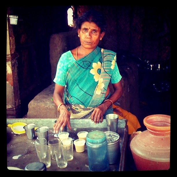 Souraja: a micro-entreprenure who owns a tea show. She earns about in Rs. 700 per day and she is able to save Rs. 200 per day. Recently she built her first home from Rs. 12,000 ($240) of savings and loans! Congratulations Souraja, you make us proud!    Like and follow us:  www.micrograam.com  www.facebook.com/micrograam  www.twitter.com/micrograam