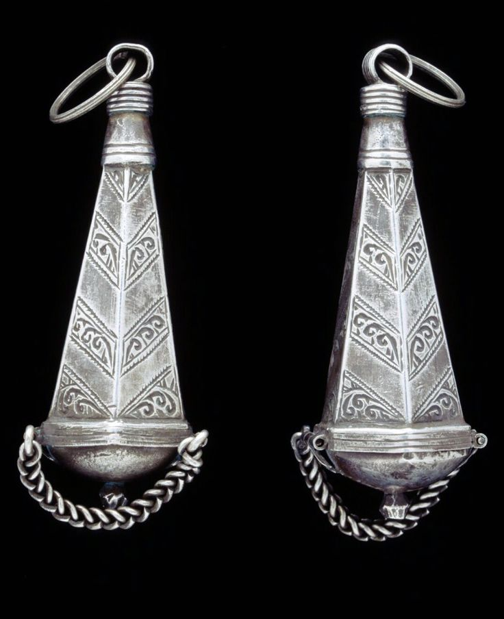 Morocco   Berber perfume amulets; silver   African Museum (Belgium) Collection; acquired 1992