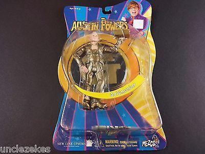 "Austin Powers Goldmember 6"" Action Figure 2002 Mezco Toyz On Card"