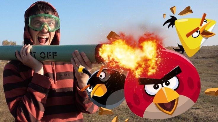 МИНОМЕТ VS ЗЛЫЕ ПТИЧКИ • Angry Birds • Эксперимент • Experiment