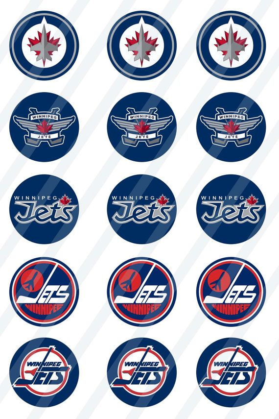 Winnipeg Jets digital collage sheet size 4x6 for by newdesigns4you, $1.95