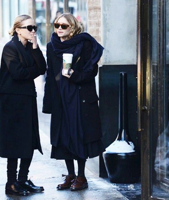 they look like two little old unhappy femmes. 21 Rare Olsen Twin Photos You've Probably Never Seen Before via @WhoWhatWear