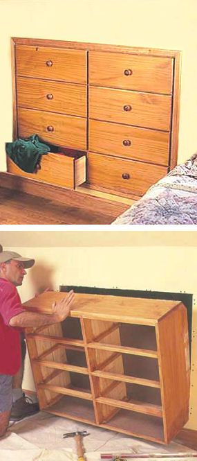 #DIY How To Build An In The Wall Space Saving Dresser