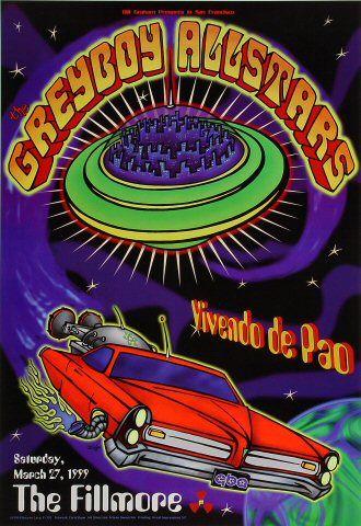 Greyboy Allstars Poster from Fillmore Auditorium (San Francisco, CA), Mar 27, 1999