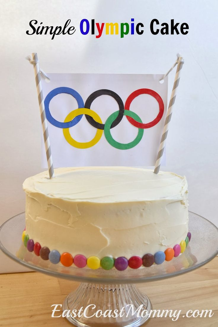 Simple Olympic Cake, have a slice and watch your favorite sports! {East Coast Mommy} #Olympics #Cake