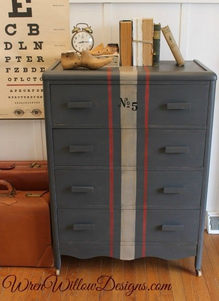 Chest of drawers painted in Amy Howard One Step paint.