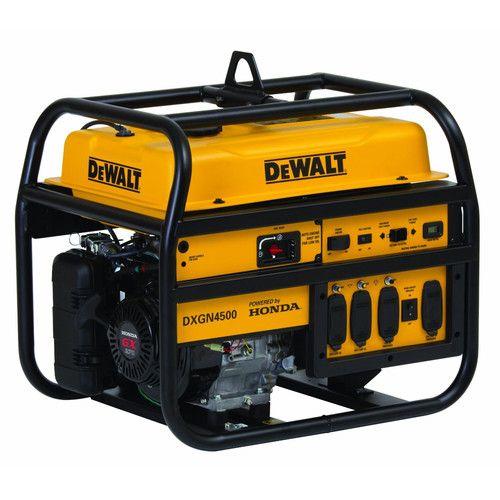 Dewalt DXGN4500 4,500 Watt Commercial Generator with Honda Engine