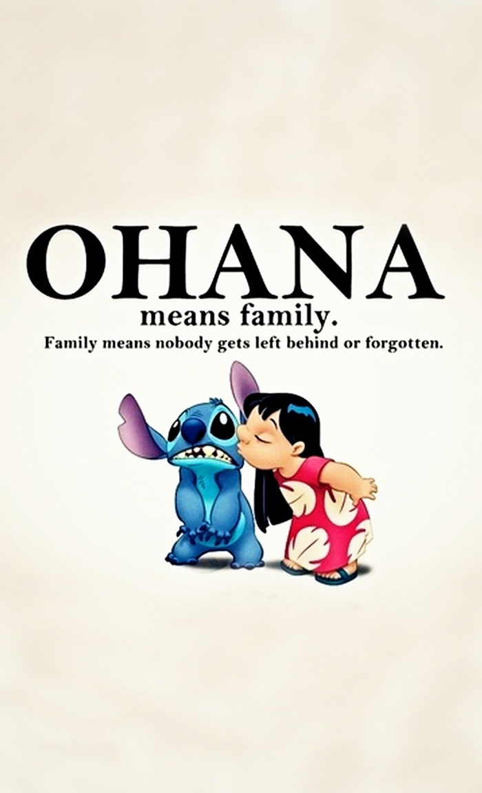 stitch ohana quote wallpaper - photo #18