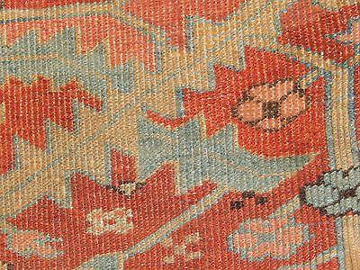 Amazing Carpet 9.7x12.9 Antique Heriz Serapi Rug Late 19th Century