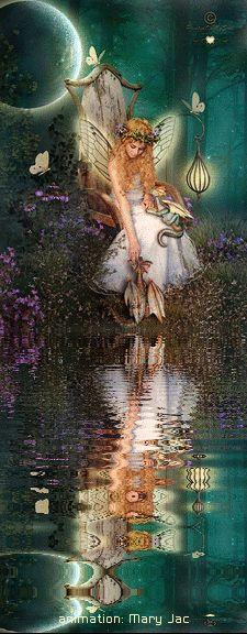 Fairy Friends 27 - Fairy Throne - Animated Fantasy Art - The Fairy Realm…