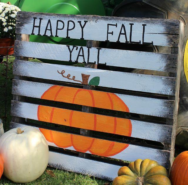 Ramblings of a Southern Girl: Painted Pumpkin Pallet & A Pumpkin Patch Visit