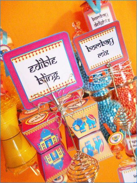 Edible bling? Ethnic-inspired party favours!