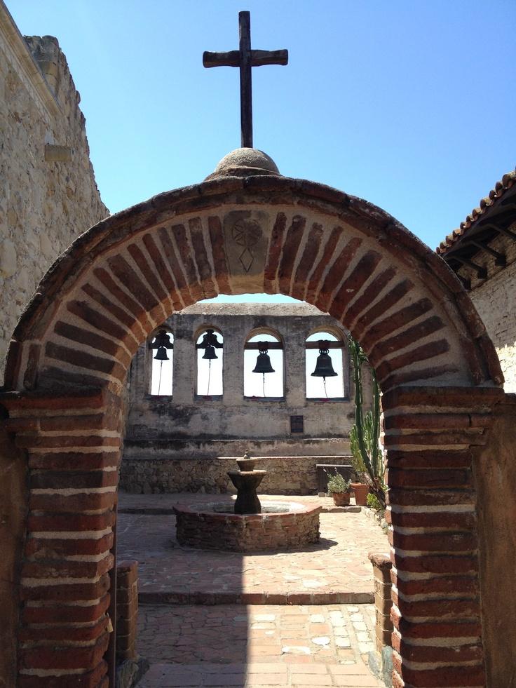 Church Bells At Mission San Juan Capistrano, Californiau0027s Oldest Mission