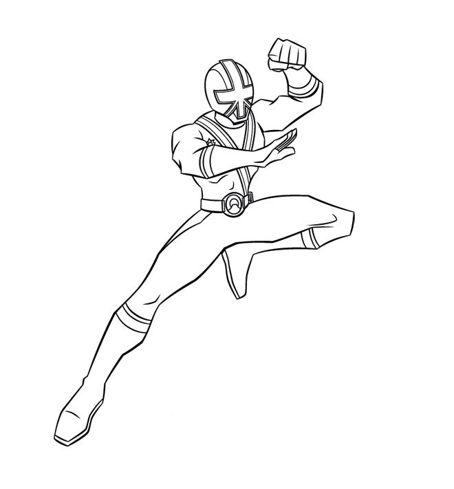red power ranger coloring pages - photo#21