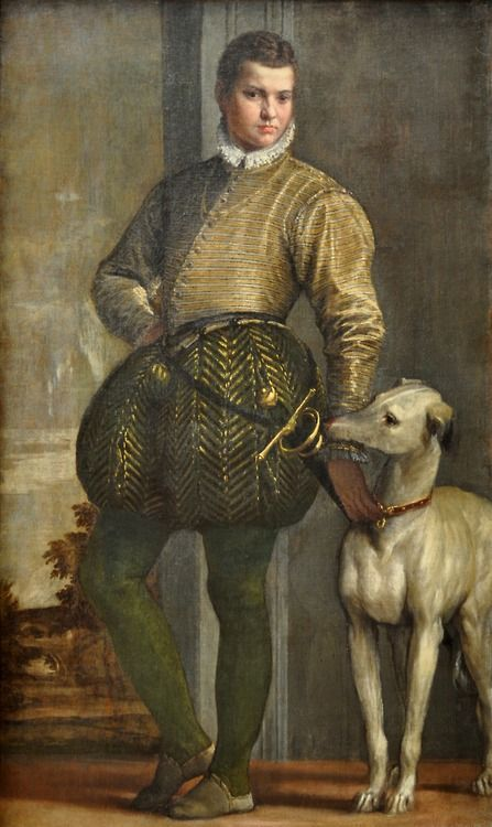 Boy with Greyhound ( 1570s) by Paolo Veronese (1528–1588).
