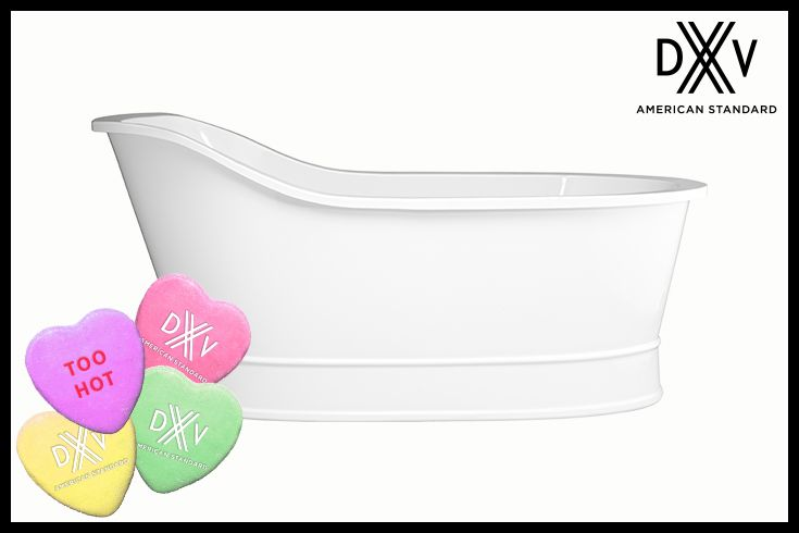Win our Oak Hill freestanding soaking tub! Pin to Win! #ValentinesDay #giveaway #DXV