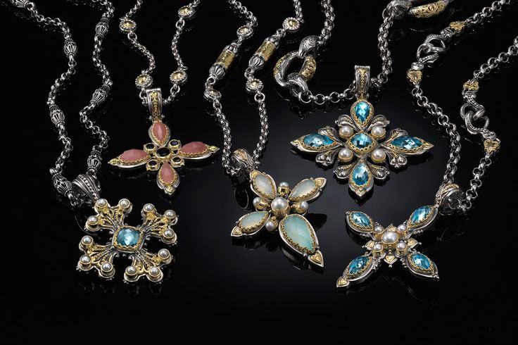 KONSTANTINO | The Amphitrite Woman collection #crosses #goldCrosses #pendants #goldPendants #gold #silverSterling #konstantino #jewelry #greekJewelry #rockJewelry #jewels #treasure #womensfashion #amphitrite #seablueagate