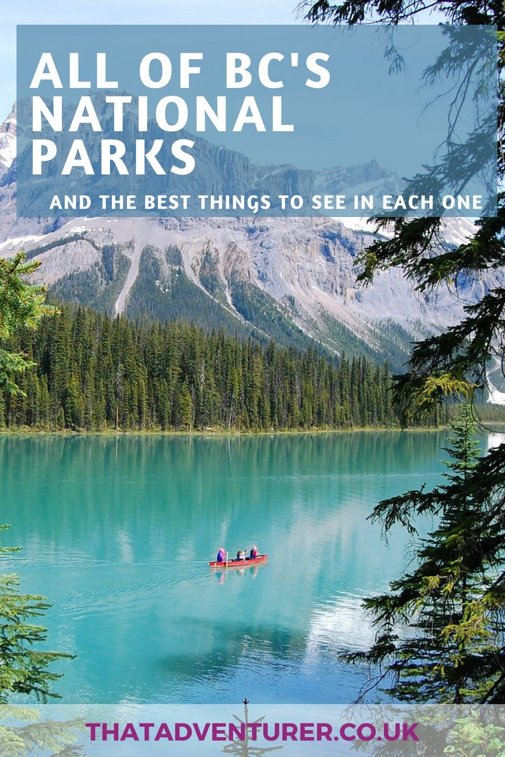 British Columbia's National Parks & what to do there