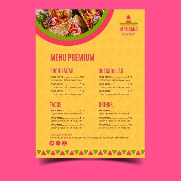 Mexican Menu Placemat Food Restaurant Menu Template Design Vintage Creative Dinner Brochure Restaurant Menu Design Mexican Restaurant Design Menu Card Design