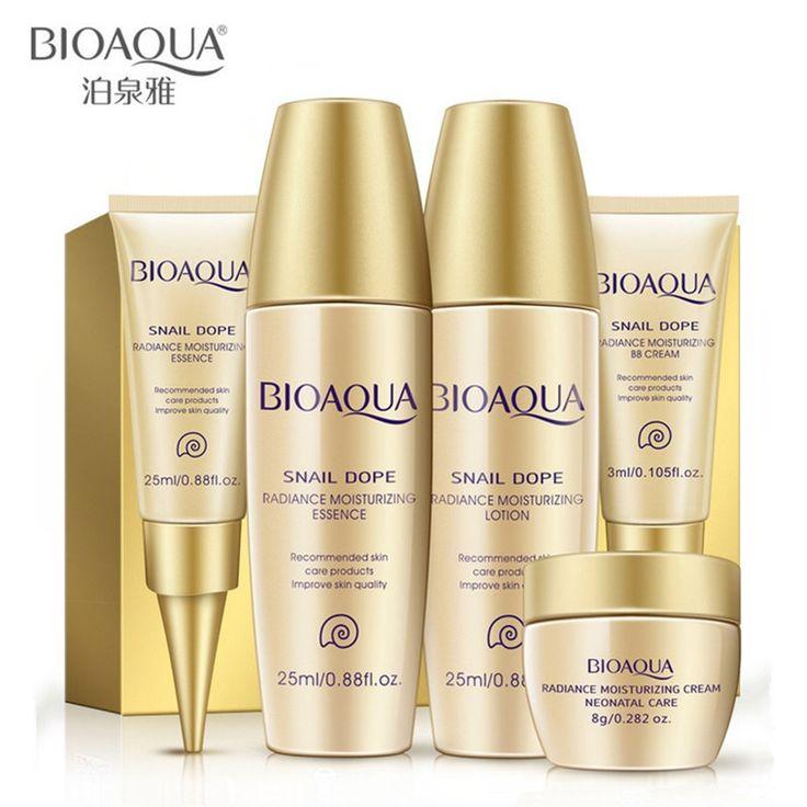 BIOAQUA Brand Skin Care 5pcs Whitening Moisturizing Essence Lotion Eye Cream BB Creams Facial Acid Liquid Anti Wrinkle Day Cream
