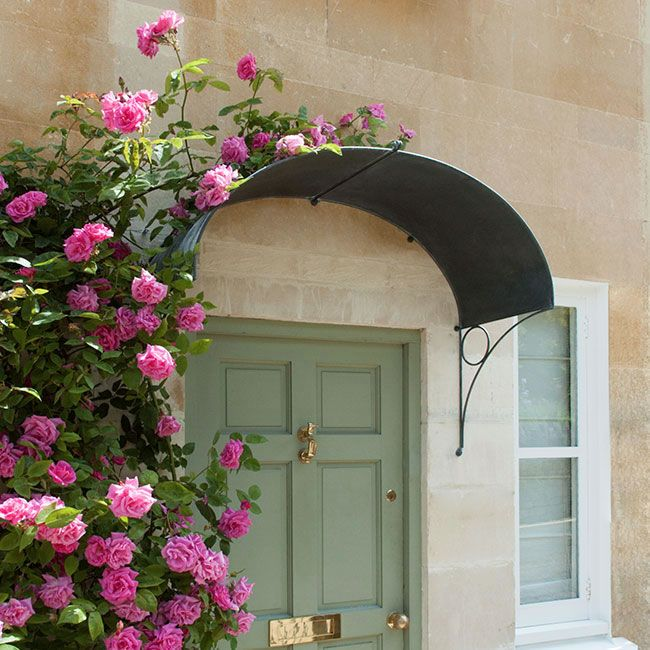 door canopy in ellipse design