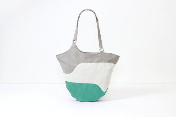 Borsa geometrica geometric bag borsa turchese borsa di MartenLab