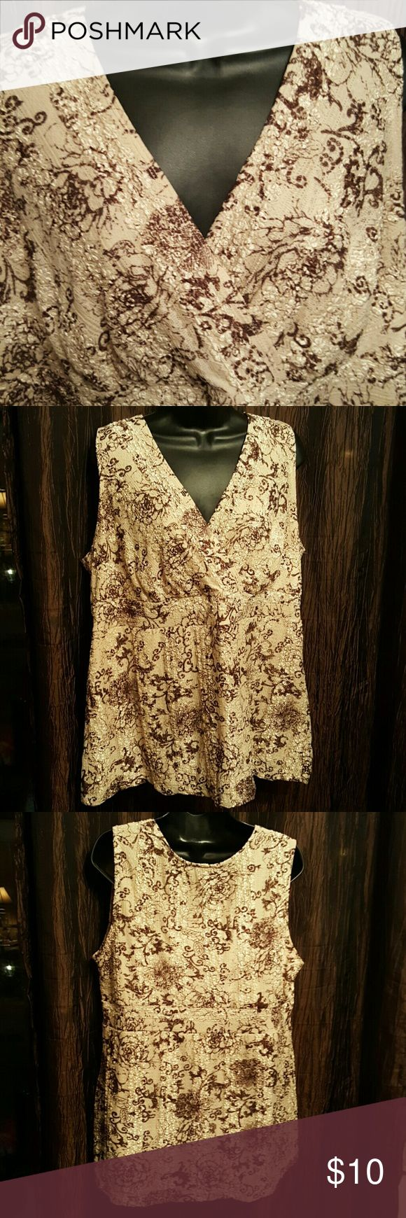 """Lane Bryant Nice sleeveless Top. Fully lined.  Length 28"""" Bust measures up too 40  ( pit too pit). Lane Bryant Tops Blouses"""