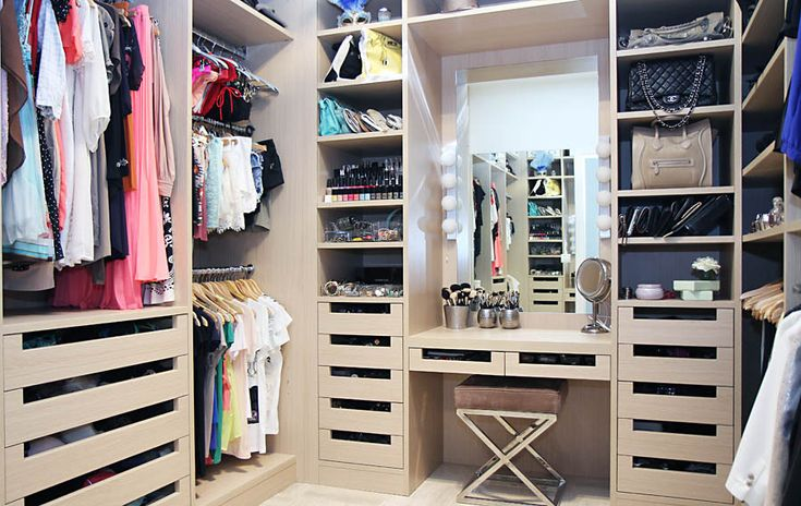 I love this drawer style - I've done similar. Also like the triple hanging of foundation garments.