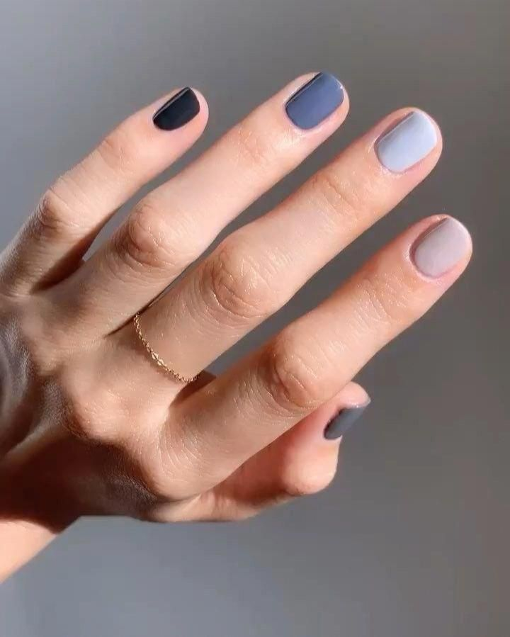 Betina R Goldstein On Instagram Essie Ombre Colors Used Pinky Generation Zen Ring On Mute Middle Trendy Nail Polish Multicolored Nails April Nails