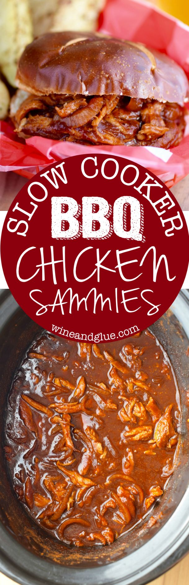 This Slow Cooker BBQ Chicken is super easy to whip up but so yummy, tender and delicious, making it a perfect weeknight dinner!