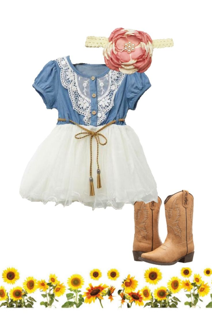 Cowgirl toddler dress, farm birthday party ideas, girl photo outfit ideas