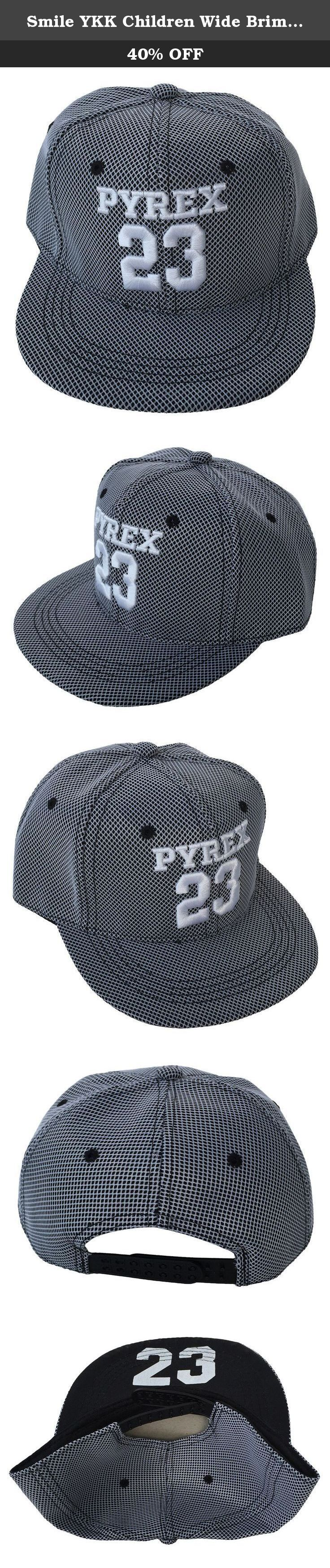 Smile YKK Children Wide Brim Adjustable Hip-hop Baseball Cap Light Black. Material:Cotton blend Head circumference 52-55cm Not only can keep child in style but also keep child from sunshine Great for summertime outdoor sports Comfortable and breathable to wear .