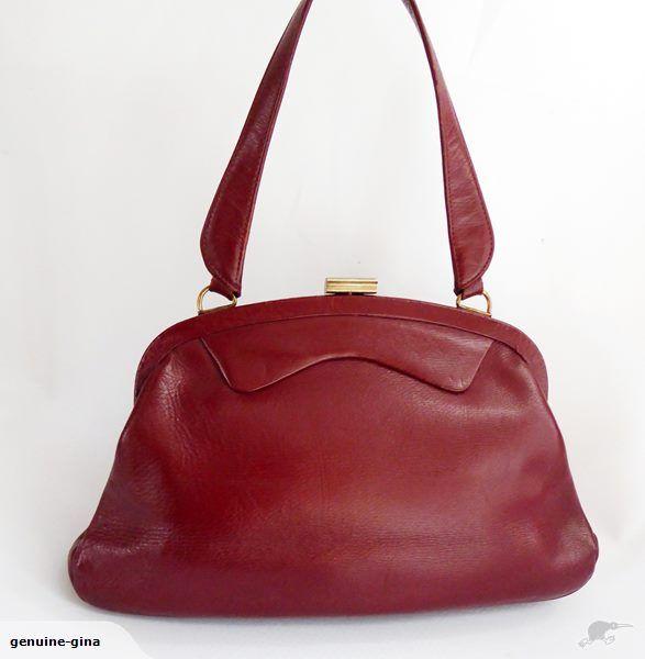 1960's vintage leather handbag