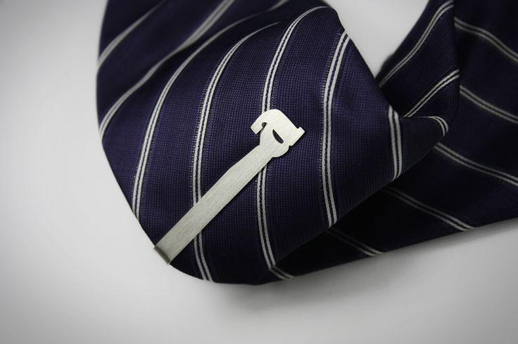 Alphabet tie clip // https://www.etsy.com/listing/208882060/925-sterling-silver-alphabet-tie-clip?ref=shop_home_active_2