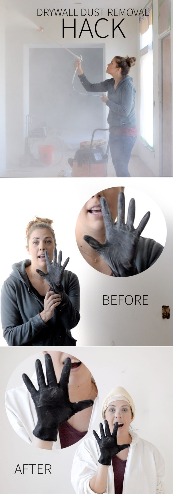 Drywall Dust Removal Hack (That Most Professionals Don't Even Know) - Vintage Revivals | Home Decor Hacks | How to install drywall #diyhomedecor #tipsandtricks #lifehacks