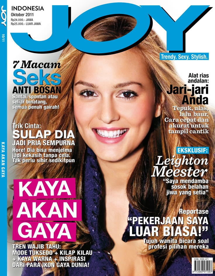 JOY Indonesia October 2011 issue.  #LeightonMeester