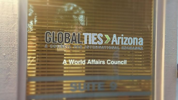 We got NEW Sign on the window. Ready to welcome #IVLP groups visiting beautiful Arizona this year. Can't wait to meet!   About Global Ties Arizona : http://www.globaltiesarizona.org/ Get involved and be the citizen diplomats!