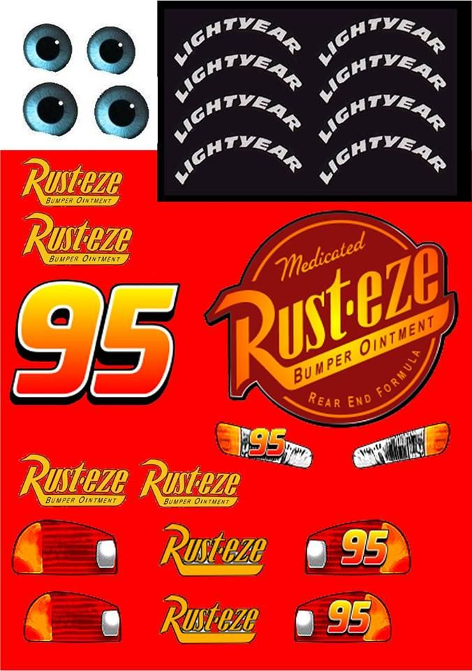 lightning mcqueen decals